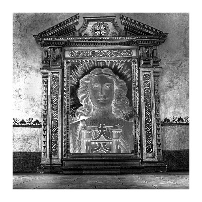 Angel Face in Doorway Oaxaca
