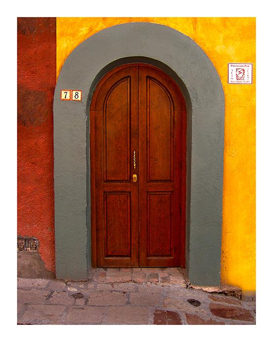 Gray Arch Door